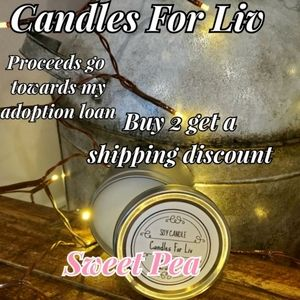 New Homemade Soy Candle Sweet Pea